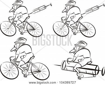 cycling - strong cyclist