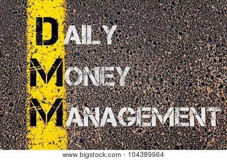 Business Acronym Dmm As Daily Money Management