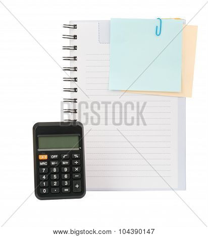 Copybook with stickers and calculator