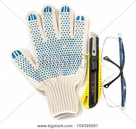 Protective glasses with cutter