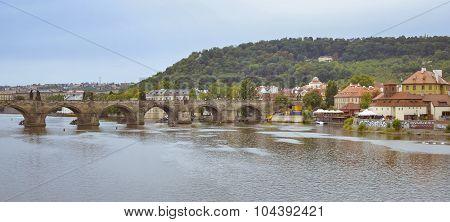 View to the Charles Bridge, Prague