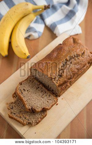 Home made Banana bread loaf