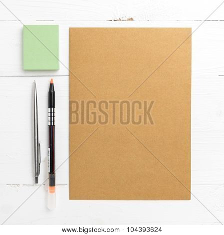 Brown Paper With Sticky Note