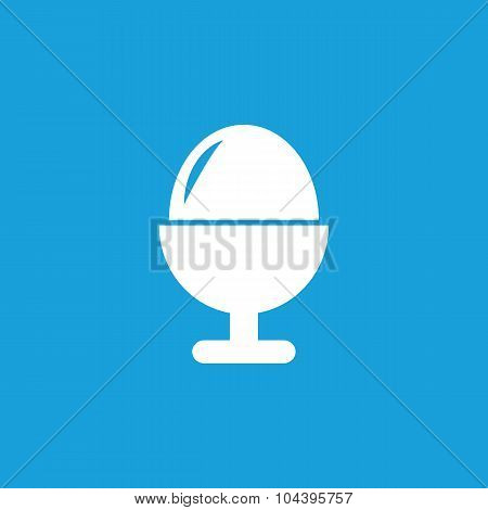Egg in cup icon, white