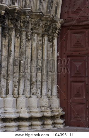 Close Up Detail Of The Entrance Doorway Of Convento Do Carmo
