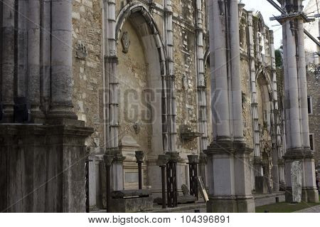 Inside The Ruins Of Carmo Convent