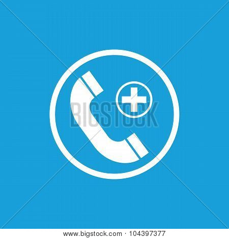 Call hospital icon, white