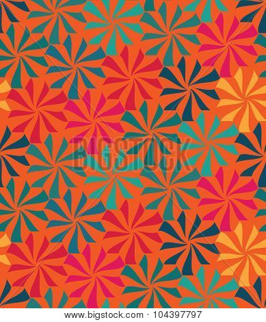 Vector modern seamless colorful geometry pattern flowers color abstract