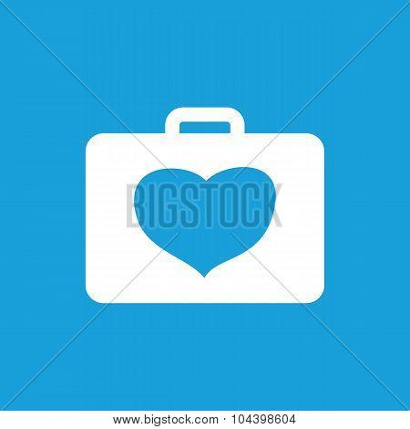 Cardiology toolbox icon, white