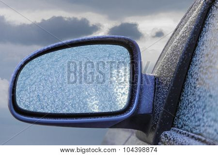 Frozen Car Rearview Mirror