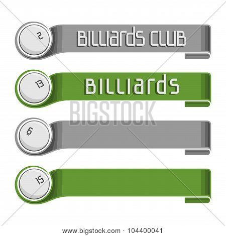 Images for text on the subject of billiard