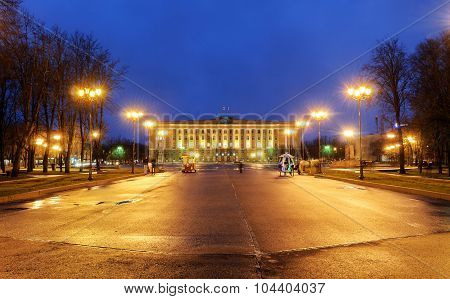 Sofia Square In Veliky Novgorod, Russia