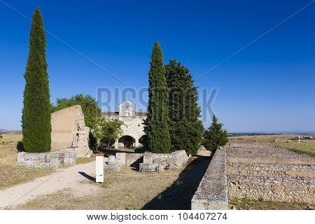 Ruins And Chapel Of Clunia, Peñalba De Castro, Burgos, Castilla Y Leon, Spain