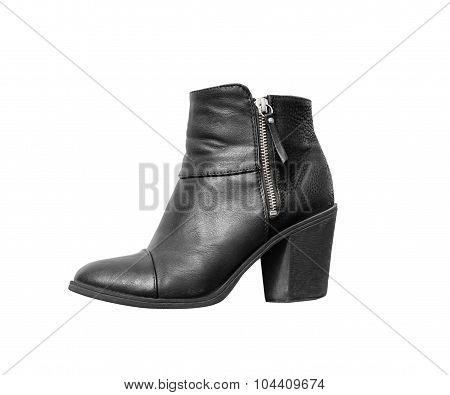 Women's autumn ankle boots black