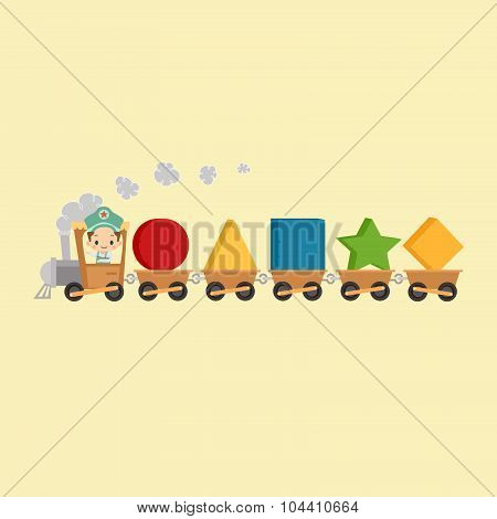 Kid Train with Shapes