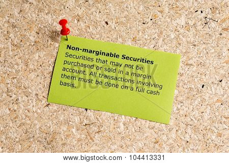 Non Marginable Securities