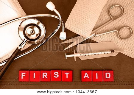 First Aid Kit, Medical Supply, Medical Emergency.
