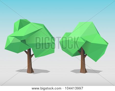 Two Polygonal Trees