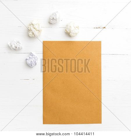 Brown Paper And Crumpled