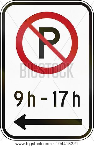 No Parking In Specified Time In Canada