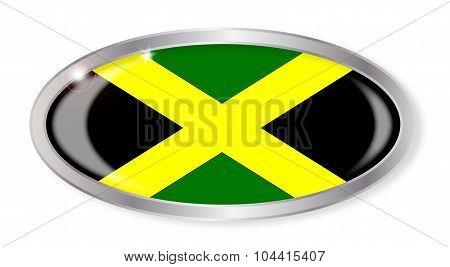 Jamaican Flag Oval Button