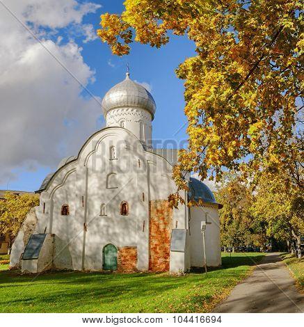 The ancient Blasius church in Veliky Novgorod Russia