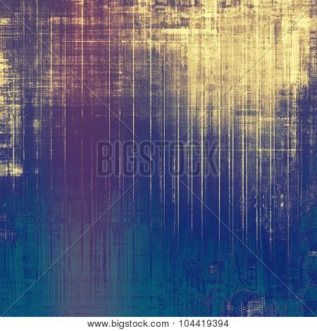Grunge texture, may be used as retro-style background. With different color patterns: yellow (beige); blue; purple (violet); cyan