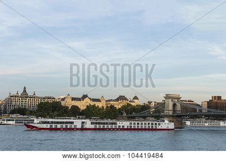 View At Danube River In Budapest, Hungary