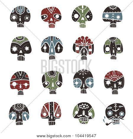 Skulls set
