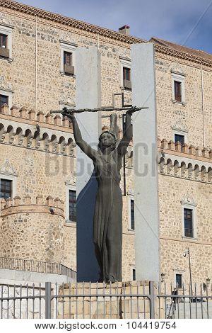 Statue In The Alcazar Of Toledo