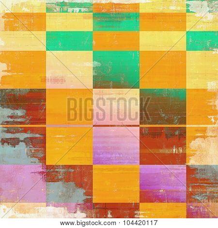 Grunge retro vintage textured background. With different color patterns: yellow (beige); brown; green; red (orange); pink