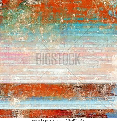 Dirty and weathered old textured background. With different color patterns: brown; blue; red (orange); pink
