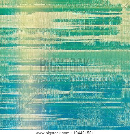 Dirty and weathered old textured background. With different color patterns: yellow (beige); blue; green; cyan