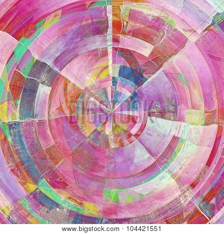 Rough grunge texture. With different color patterns: pink; green; blue; purple (violet); red (orange)