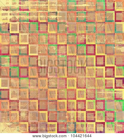 Vintage texture. With different color patterns: yellow (beige); brown; green; red (orange); purple (violet)