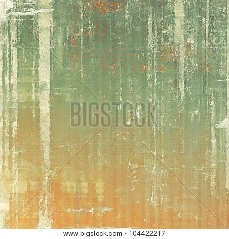 Weathered and distressed grunge background with different color patterns: yellow (beige); brown; green; gray