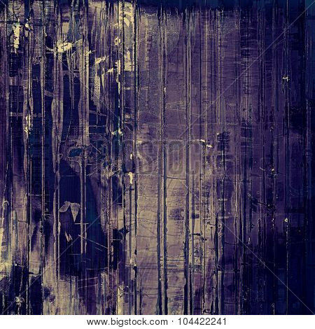 Weathered and distressed grunge background with different color patterns: blue; purple (violet); gray
