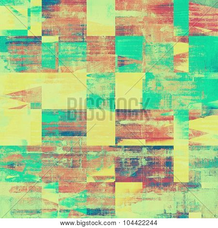 Abstract retro background or old-fashioned texture. With different color patterns: yellow (beige); brown; green; red (orange)