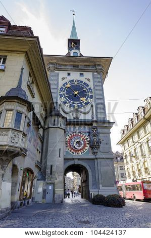 The Clock Tower In Bern, Switzerland