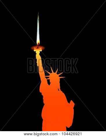 Statue Of Liberty Candle