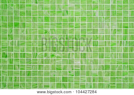 Green square tiled background