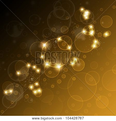 Festive Background With Highlights And Bokeh