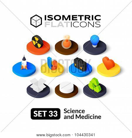 Isometric flat icons set 33