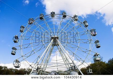 Full View Of The Ferris Wheel In The Park