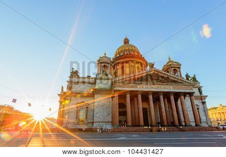 Saint Petersburg/Russia - August 04, 2015: Saint Isaac's Cathedral