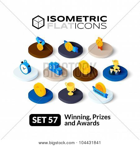 Isometric flat icons set 57