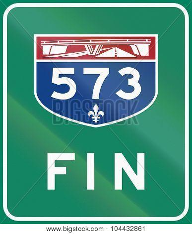 End Of Quebec Highway 573