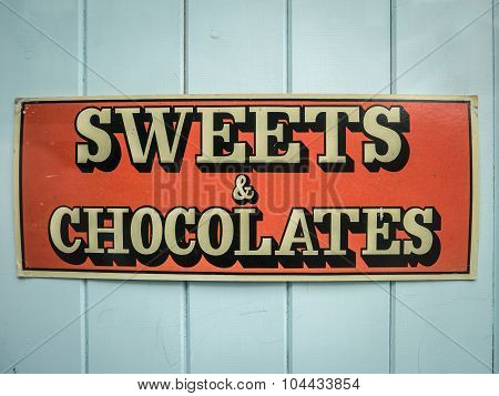 Sweets And Chocolates Sign