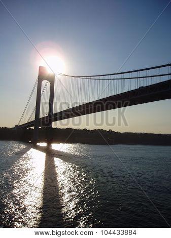 Verrazano Narrows Bridge At Day
