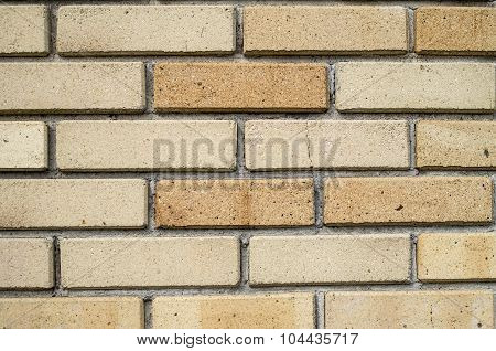 Wall Of New Refractory Bricks Closeup